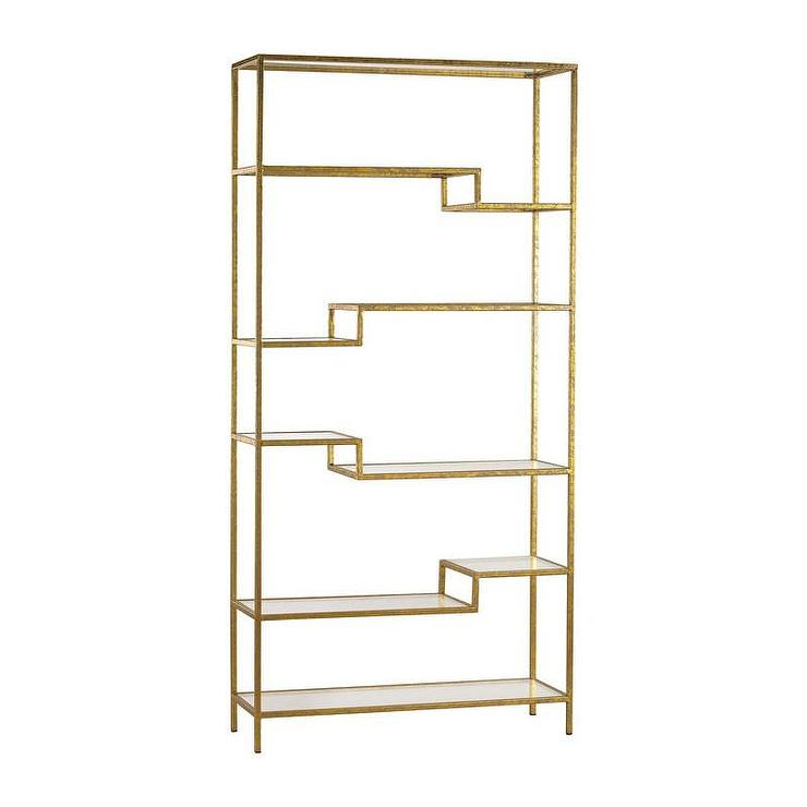 Via Marble Rose Gold Bookcase