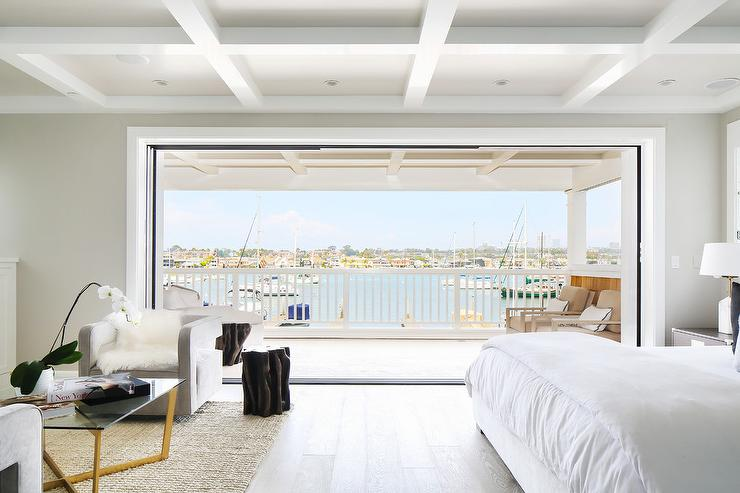 Beachside Master Bedroom With Folding Doors To Balcony Cottage Bedroom Sherwin Williams Colonnade Gray