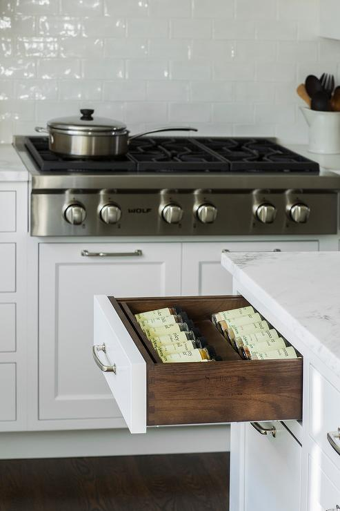 Pot And Pan Drawers Under Stainless Steel Stove Transitional Kitchen