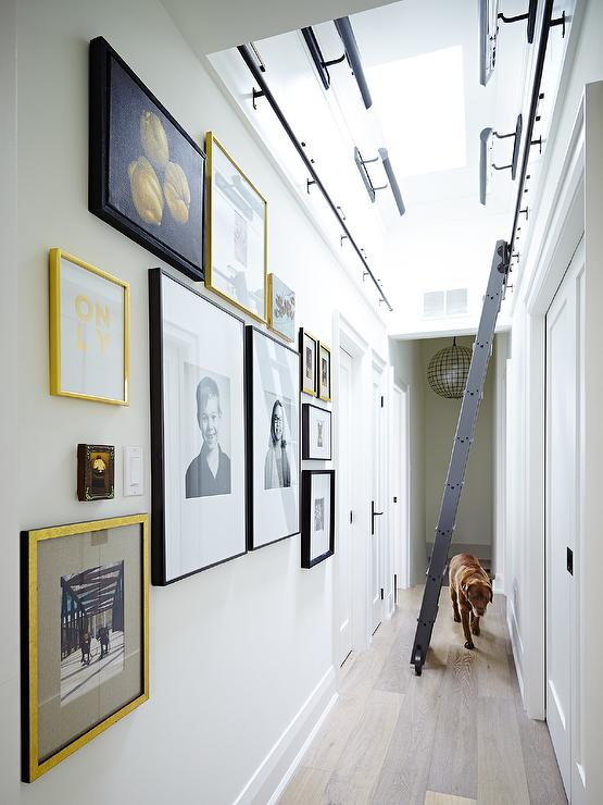 Long Hallway With Skylight Transitional Entrance Foyer