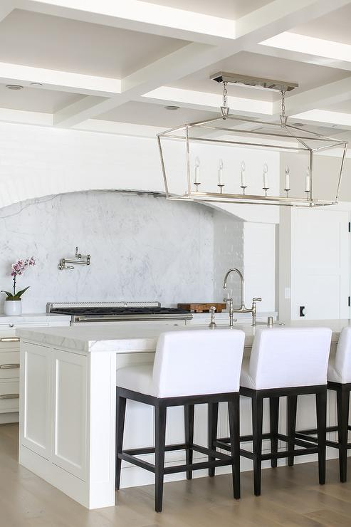 Reclaimed White Brick Arched Cooking Alcove Cottage