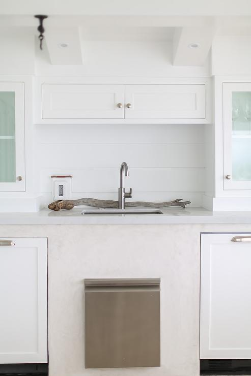 Gray Shiplap Outdoor Kitchen Cabinets Design Ideas