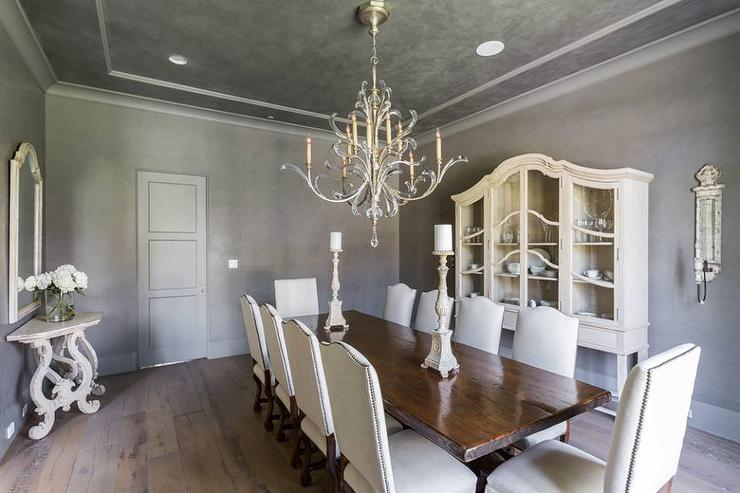 French Dining Room With Rustic Wood Floors View Full Size