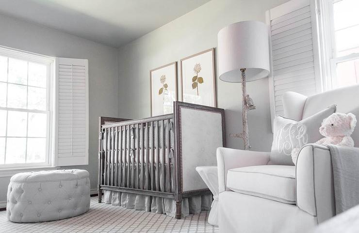 Light gray nursery with faux bois floor lamp traditional nursery light gray nursery with faux bois floor lamp aloadofball Image collections