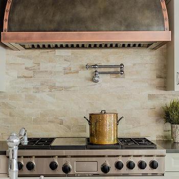 copper kitchen hood trim
