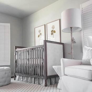Ivory And Beige French Nursery With Wingback Glider