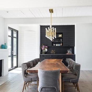 black built in dining room bar design ideas