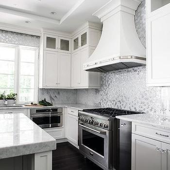 silver metallic mosaic tiles design ideas