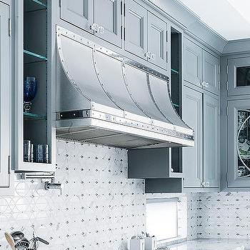 Stainless Steel Studded Kitchen Vent Hood Design Ideas