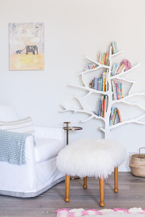 Tree bookshelf babyletto tree bookcase tree bookcase for Corner tree bookcase