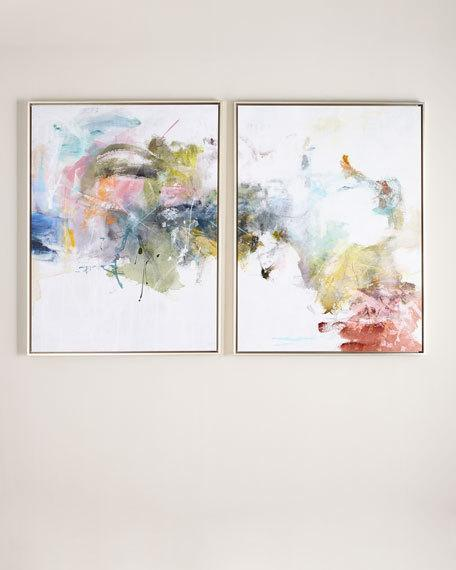 Multicolor Whitewashed Abstract Art