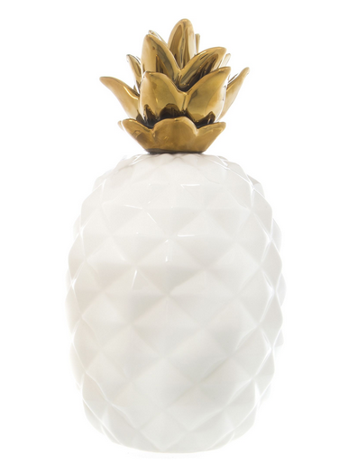 White Ceramic Pineapple Decor