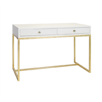 Black Lacquer Gold Base Desk