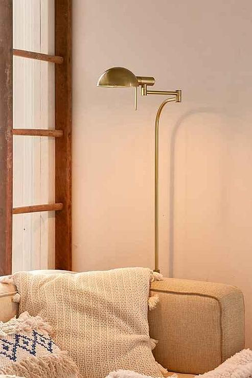 Aerin Dover Gold Fluted Floor Lamp