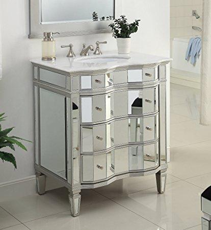 Sink Vanity Mirrored Single Washstand