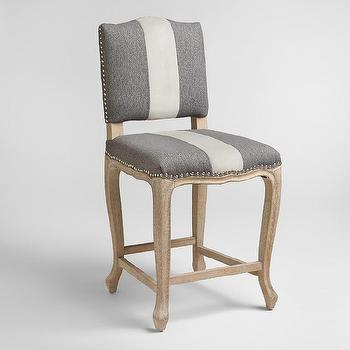 Fitzgerald Upholstered Counter Stool Rustic Yacht Stripe