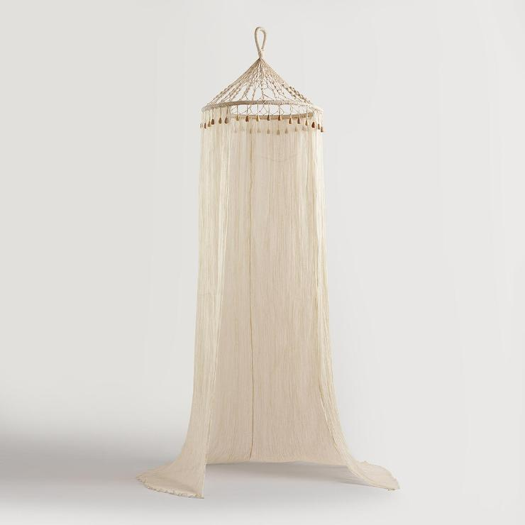 Ivory Sheer Cotton Bohemian Canopy  sc 1 st  Decorpad & Sheer Cotton Bohemian Canopy