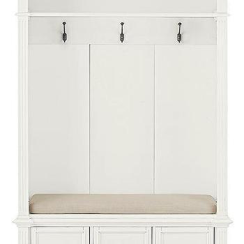 White Three Drawer Storage Bench Locker