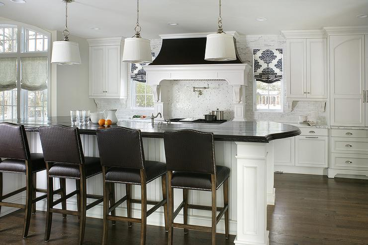 Black And White Kitchen With Arteriors Anderson Iron