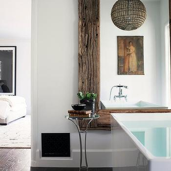 Reclaimed Wood Bathroom Mirror Design Ideas
