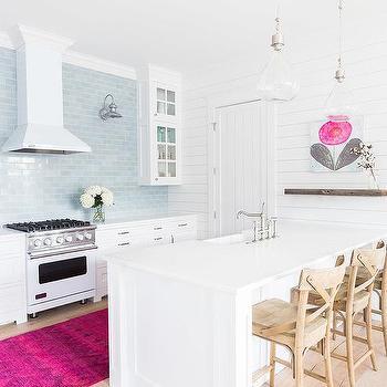Pink And Blue Vintage Kitchen Rug Design Ideas