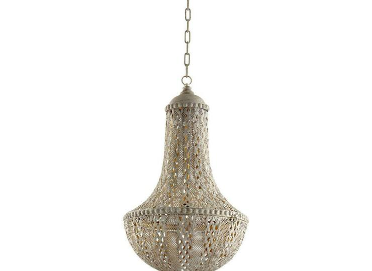 Antique silver iron ornate chandelier aloadofball Image collections