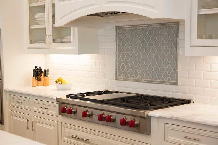 White Glass Arabesque Kitchen Tiles Design Ideas