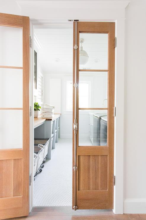 Attractive Laundry Room Cremone Bolt Doors - Transitional - Laundry Room  YB94