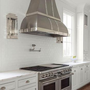 Nickel And Glass Kitchen Wall Sconce Design Ideas
