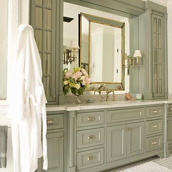 Gray Green Bathroom Cabinets Design Ideas, Green Bathroom Cabinet