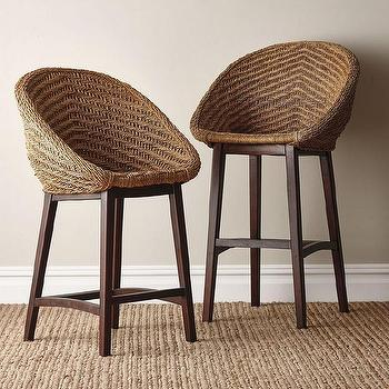 Brown Round Back Counter Stool