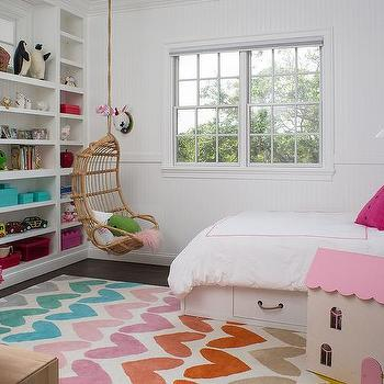 Colorful Heart Pattern Kid Room Rug Design Ideas