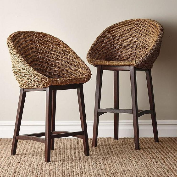 Remarkable Brown Rope Round Counter Stool Pabps2019 Chair Design Images Pabps2019Com