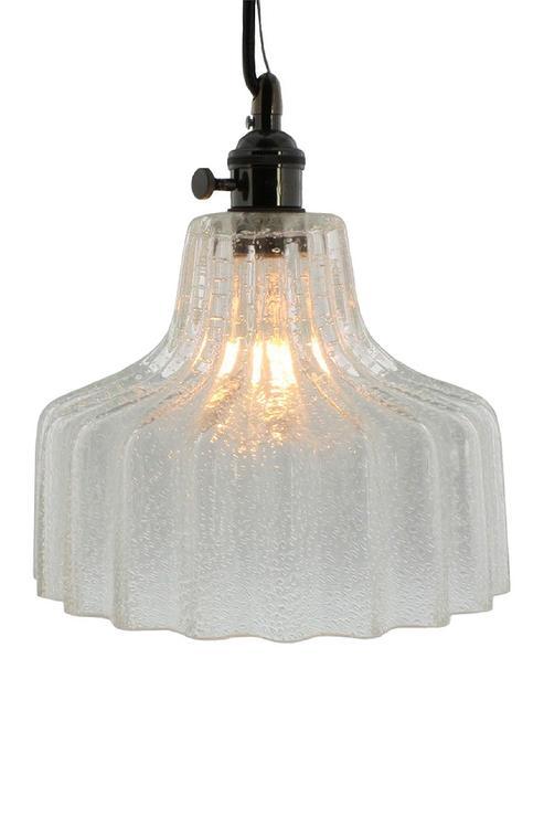 Calhoun glass pendant pottery barn ribbed medium glass pendant light view full size aloadofball Images