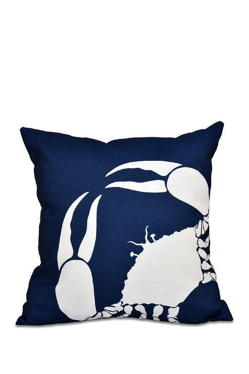 Navy Geometric Pillow