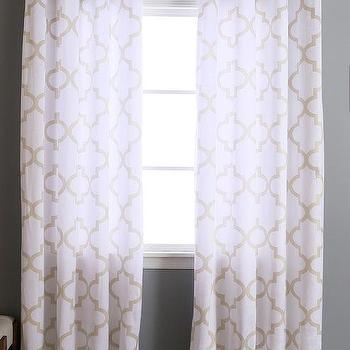 window treatments pottery drapes gray sheer and drape curtain curtains white barn trellis pin kendra