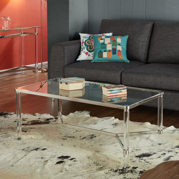 Clear Glass And Acrylic Coffee Table - Cb2 clear coffee table