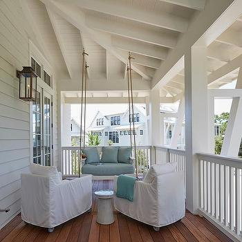 Beach Home Porch With Rope Swing Sofa