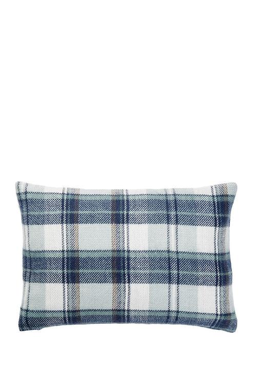 cfd30838b45 Navy and White Plaid Pillow