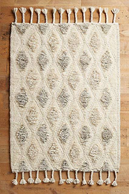 Cream And Taupe Vibrations Shag Rug