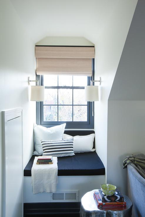 Dormer Window With Window Seat Nook Transitional Bedroom