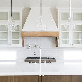 White French Hood With Rustic Wood Trim Design Ideas