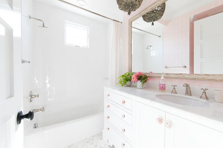 Pink and Blue Girls Bathroom - Contemporary - Bathroom