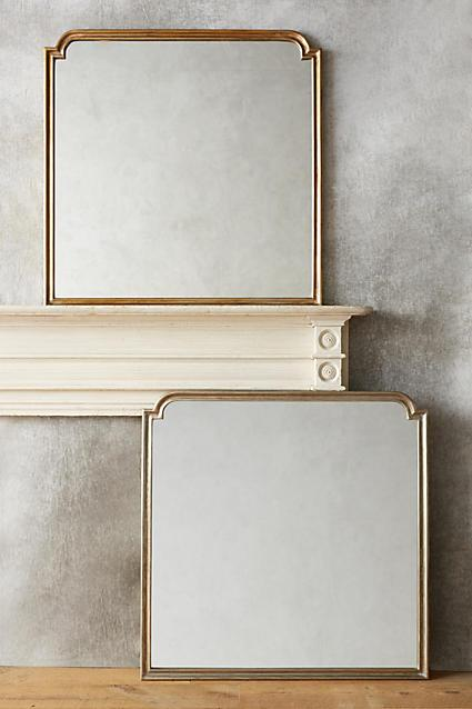 Antique Gold Thin Framed Mirror