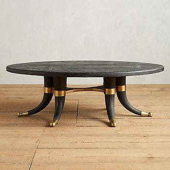 Noir Ming Coffee Table Zinc Door