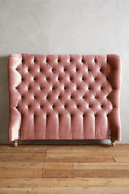 innovative design 6d786 10989 Pink Velvet Diamond Tufted Wingback Headboard