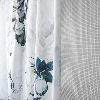 Grey And Turquoise Shower Curtain. Gray Flower Printed White Shower Curtain Threshold Grey and Floral