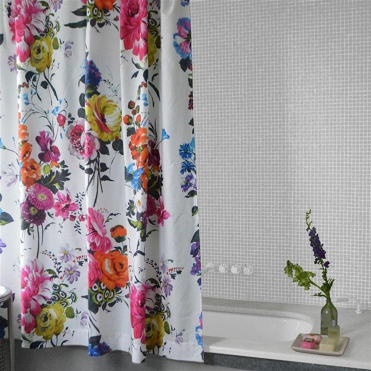 colorful peony shower curtain - Colorful Shower Curtains