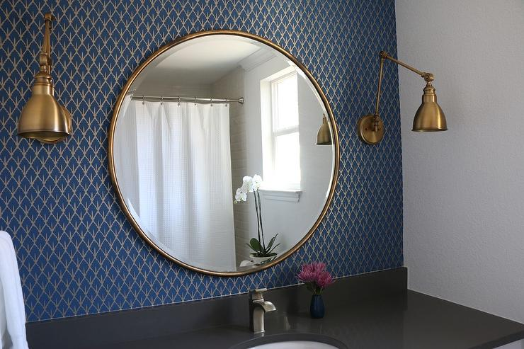 Unique 30 bathroom in french design inspiration of french for Blue and gold bathroom accessories