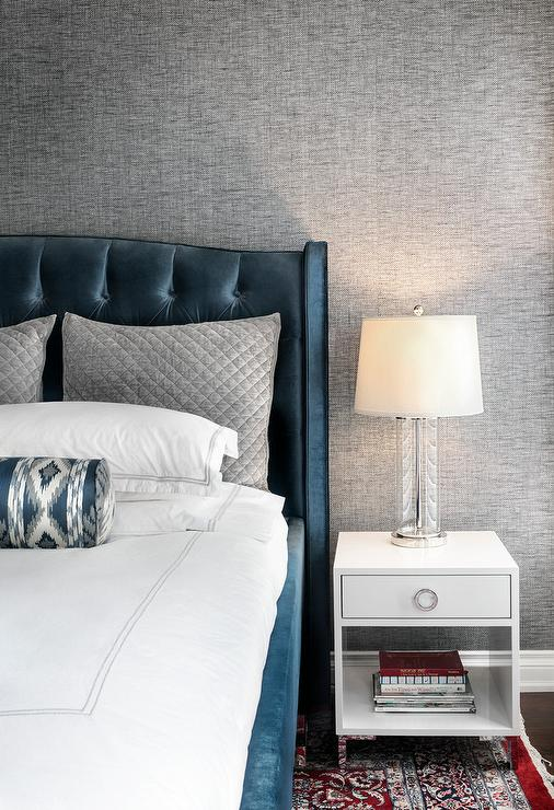 Contemporary Blue And Gray Bedroom
